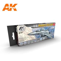 Set colores para los aviones  U.S. MODERN AIRCRAFT 2. Marca AK Interactive. Ref: AK2140.