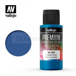 Premium Azul Cobalto. Premium Airbrush Color. Bote 60 ml. Marca Vallejo. Ref: 62009.