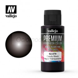 Premium Negro Candy. Premium Airbrush Color. Bote 60 ml. Marca Vallejo. Ref: 62079.