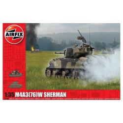 M4A3(76)W, Sherman Battle of the Bulge. Escala 1:35. Marca Airfix. Ref: A1365