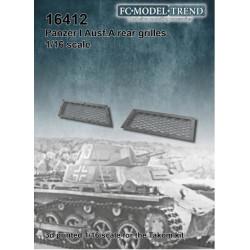 Rejillas Treseras Panzer I Ausf.A. Escala 1:16. Marca FCmodeltrend. Ref: 16412.