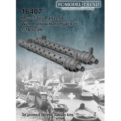MG13 para Panzer I. Escala 1:16. Marca FCmodeltrend. Ref: 16407.