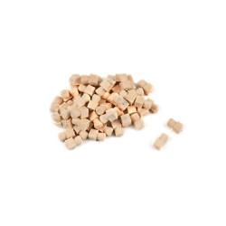 Bolardos de madera 9 mm , ( 10 unds. ). Marca Amati. Ref: 491009.