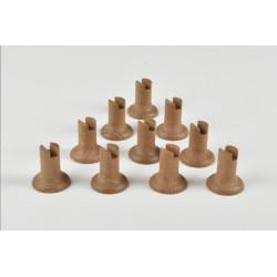 Pedestal liso en madera, 32 mm de altura. 2 unds. Marca Amati. Ref: 568503.