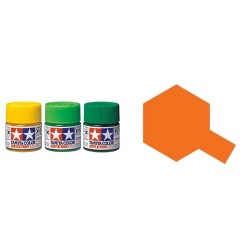 Gloss Orange, Naranja Brillo (81006). Bote 23ml.  Marca Tamiya. Ref: X-6.