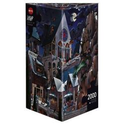 Castillo del terror, 97 x 69 cm. Puzzle Triángular, 2000 pz. Marca Heye. Ref: 26127.