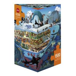 Submarine Fun. Puzzle Triángular, 1500 pz. Marca Heye. Ref: 29925.