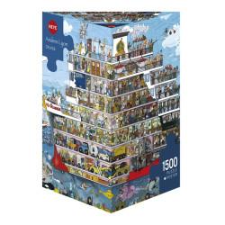 Crucero. Puzzle Triángular, 1500 pz. Marca Heye. Ref: 29697.