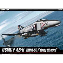 """USMC F-4B/N VMFA-531 """"Gray Ghosts"""". Escala 1:48. Marca Academy. Ref: 12315."""