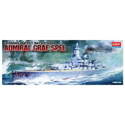 ADMIRAL GRAF SPEE, German Pocket Battleship. Escala: 1:350. Marca: Academy. Ref: 14103.