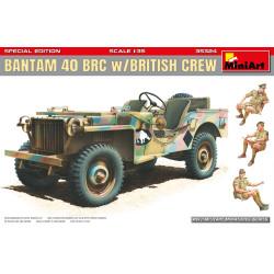 Bantam 40 BRC British + 3 figuras. Edición Especial. Escala 1:35. Marca Miniart. Ref: 35324.