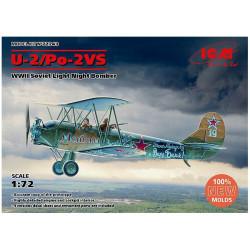 Bombardero Nocturno Ruso U-2/Po-2VS ( WWI ). Escala 1:72. Marca ICM. Ref: 72243.