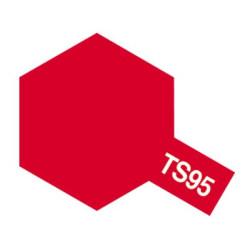 Spray Pure Metallic Red, Rojo puro Metálico, (85095). Bote 100 ml. Marca Tamiya. Ref: TS-95.