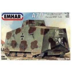 "A7V ""Sturmpanzer"" German WW1 Tank. Escala 1:72. Marca Emhar. Ref: EM5003."