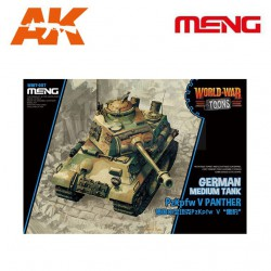 German Medium Tank PzKpfw V Panther. Serie world war toons. Marca Meng. Ref: WWT-007.
