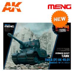 German Heavy Tank Tiger (P) VK 45.01 (CARTOON MODEL). Serie world war toons. Marca Meng. Ref: WWT-015.