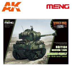 British medium tank Sherman-Firefly (Cartoon Model). Serie world war toons. Marca Meng. Ref: WWT-008.