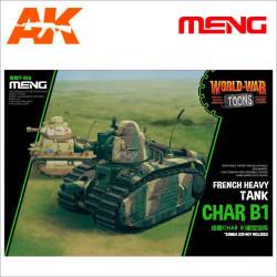 French Heavy Tank Char B1 (cartoon model). Serie world war toons. Marca Meng. Ref: WWT-016.