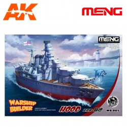 Model-Warship Builder Hood ( Cartoon model). Serie world war toons. Marca Meng. Ref: WB-005.