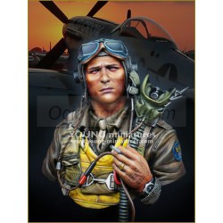 Usaaf fighter pilot 1944. Escala 1:10. Marca Young miniatures. Ref: YH1856.