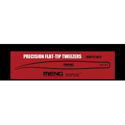 Pinzas curvas, Flat-Tip Tweezers. Marca Meng. Ref: MTS-035.