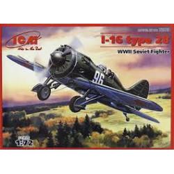 Soviet Fighter I-16 Type 28 ( WWII ). Escala 1:72. Marca ICM. Ref: 72073.