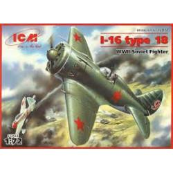 Soviet Fighter I-16 Type 18 ( WWII ). Escala 1:72. Marca ICM. Ref: 72072.