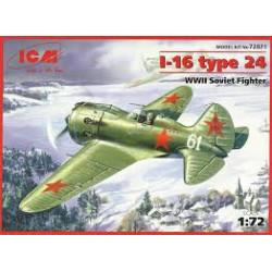 Soviet Fighter I-16 Type 24 ( WWII ). Escala 1:72. Marca ICM. Ref: 72071.