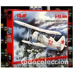 Soviet Biplane Fighter I-15  Winter version ( WWII ). Escala 1:72. Marca ICM. Ref: 72013.