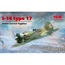 I-16 Type 17, WWII Soviet fighter. Escala 1:32. Marca ICM. Ref: 32005.