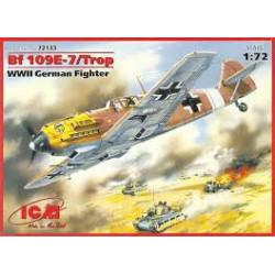 Messerschmitt Bf 109E-3 German Fighter ( WWII ). Escala 1:72. Marca ICM. Ref: 72131.