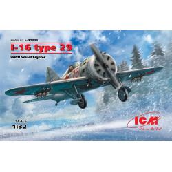 I-16 Type 29, WWII Soviet fighter. Escala 1:32. Marca ICM. Ref: 32003.
