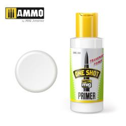 One shot primer, Transparente. Bote 60 ml. Marca Ammo of Mig Jimenez. Ref: AMIG2041.