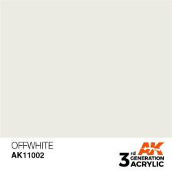 Acrílicos de 3rd Generación, OFFWHITE – STANDARD. Bote 17 ml. Marca Ak-Interactive. Ref: Ak11002.