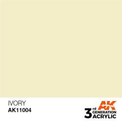 Acrílicos de 3rd Generación, IVORY – STANDARD. Bote 17 ml. Marca Ak-Interactive. Ref: Ak11004.
