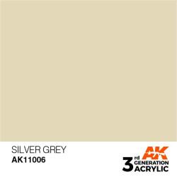 Acrílicos de 3rd Generación, SILVER GREY – STANDARD. Bote 17 ml. Marca Ak-Interactive. Ref: Ak11006.