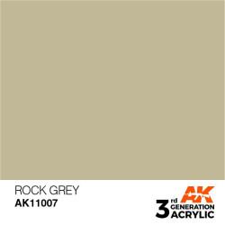 Acrílicos de 3rd Generación, ROCK GREY – STANDARD. Bote 17 ml. Marca Ak-Interactive. Ref: Ak11007.
