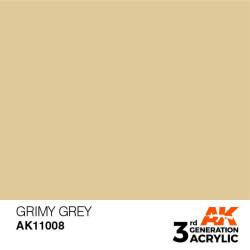 Acrílicos de 3rd Generación, GRIM GREY – STANDARD. Bote 17 ml. Marca Ak-Interactive. Ref: Ak11008.