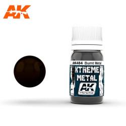 Xtreme Metal, Metal Quemado. Contiene 30 ml. Marca AK Interactive. Ref: AK484.