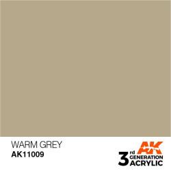 Acrílicos de 3rd Generación, WARM GREY – STANDARD. Bote 17 ml. Marca Ak-Interactive. Ref: Ak11009.