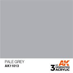 Acrílicos de 3rd Generación, PALE GREY – STANDARD. Bote 17 ml. Marca Ak-Interactive. Ref: Ak11013.