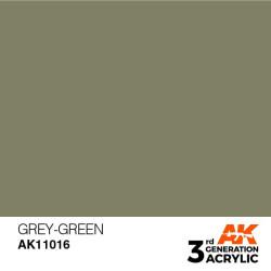 Acrílicos de 3rd Generación, GREY GREEN – STANDARD. Bote 17 ml. Marca Ak-Interactive. Ref: Ak11016.