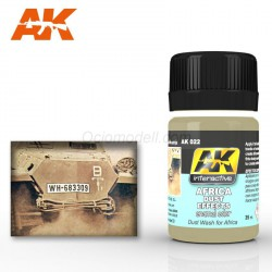 Wash Africa Dust Effects. Bote de 35 ml. Marca AK Interactive. Ref: AK022.