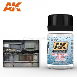 Wet Effects Fluid. Bote de 35 ml. Marca AK Interactive. Ref: AK079.