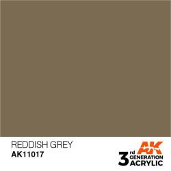 Acrílicos de 3rd Generación, REDDISH  GREY – STANDARD. Bote 17 ml. Marca Ak-Interactive. Ref: Ak11017.