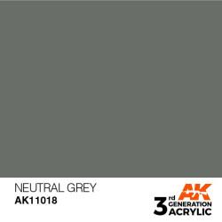Acrílicos de 3rd Generación, NEUTRAL GREY – STANDARD. Bote 17 ml. Marca Ak-Interactive. Ref: Ak11018.