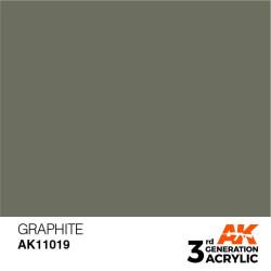 Acrílicos de 3rd Generación, GRAPHITE – STANDARD. Bote 17 ml. Marca Ak-Interactive. Ref: Ak11019.