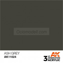 Acrílicos de 3rd Generación, ASH GREY– STANDARD. Bote 17 ml. Marca Ak-Interactive. Ref: Ak11024.