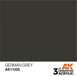 Acrílicos de 3rd Generación, GERMAN GREY– STANDARD. Bote 17 ml. Marca Ak-Interactive. Ref: Ak11025.