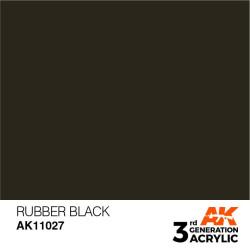 Acrílicos de 3rd Generación, RUBBER BLACK – STANDARD. Bote 17 ml. Marca Ak-Interactive. Ref: Ak11027.